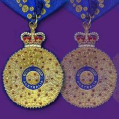 graphic from design of Queen's Birthday Honours medals